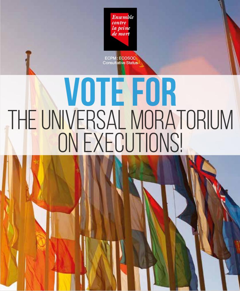 Moratorium campaign flyer ENG